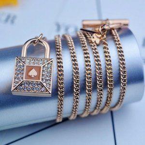 Kate Spade Zircon Keychain Necklace